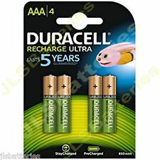 4 x AAA Duracell  Rechargeable 850 mAh  Battery 850mAh Ultra pre Charged