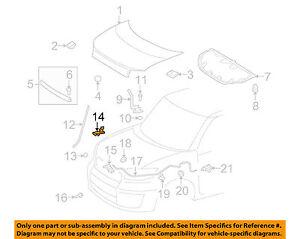 Scion TOYOTA OEM 08-15 xB Hood Support Rod Holder 53452-12100 OEM FACTORY SCION