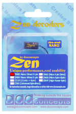 ZEN NANO DCC Concepts ZN8D 1amp 4 Function 8 Pin Direct DCC Decoder +Stay Alive