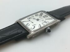 VINTAGE Rolex Large Tank Men's Watch 40mm  ART DECO 1920's STERLING SILVER CASE