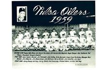 1959 TULSA OILERS 8X10 TEAM PHOTO   BASEBALL OKLAHOMA