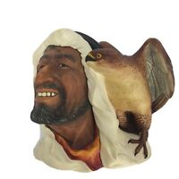 "Vintage 1961 ""Desert Hawks"" Bossons Chalkware - Bedouin with Falcon, Wall Mask"