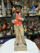 New listing Gentlemen Gambler Empty Decanter 14 Inches Tall Lionstone Whiskey