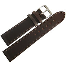 18mm Fluco Brown HORWEEN Shell Cordovan Leather Flat German Watch Band Strap