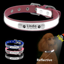 Personalised Reflective Dog Collar for Small Dogs Chihuahua Safety Pet ID Collar