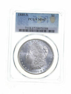 MS67 1880-S Morgan Silver Dollar - Graded PCGS *5404