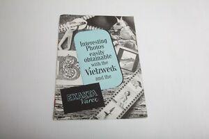 1958 IHAGEE DRESDEN brochure MULTI-PURPOSE DEVICE for the EXAKTA VAREX Veilzweck