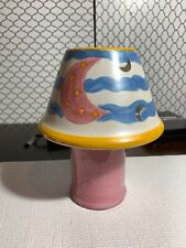 Large Candle Jar Topper Moon And Stars Sweet Dreams  Shade