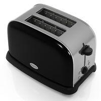 Elgento 2 Slice Black Stainless Steel Electric Toaster New