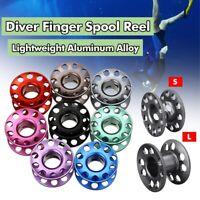 Aluminum Alloy Scuba Diver Finger Spool Reel Line Spool Diving Reel