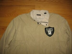 LAS VEGAS OAKLAND RAIDERS NFL SEWN ON PATCH NEW JACKET BY ANTIGUA XL