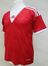 Kids Adidas Short Sleeve Top T-Shirt Jersey University Campeon Red 128cm 7-8year