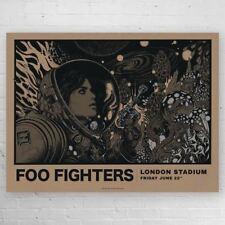 Foo Fighters VARIANT London Stadium Richey Beckett Screenprint Poster S/N xx/20