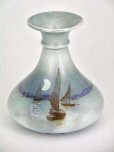 Shelley Sailing Boats at Moonlight Vase Pattern 7591 Shape 779
