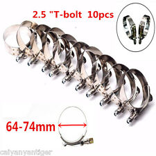 "10 x2.5"" inch Stainless Steel T-bolt Clamps For Silicone Coupler Turbo Pipe Hose"