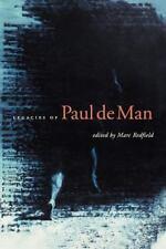 Legacies of Paul de Man (2007, Paperback)