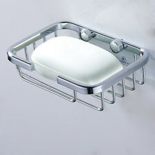 NEW Stainless Steel Soap Dishes Holder Storage Basket Rack Wall Mounted Bathroom
