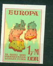 DDR Vignette Volkskammerwahlen in der DDR 1990 , ** , geschnitten