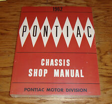 1962 Pontiac Full Size Car Chassis Service Shop Manual 62