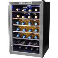 28 Bottle Wine Cooler Fridge Chiller Refrigerator Thermoelectric Freestanding