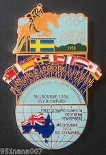 MELBOURNE 1956 3 PIN SET/ PART OF 1996 COCA-COLA OLYMPIC 100 LAPEL PIN COLLECT