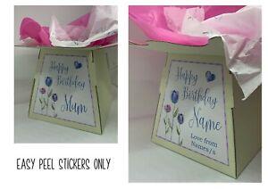 Gift Box Sticker | Flower Box Sticker | Bouquet Box Sticker | Happy Birthday