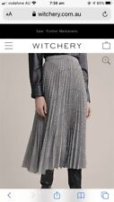 Gorgeous Witchery Current Season Long Check Skirt Size 10 Brand New With Tag