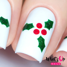 Holly Stencils for Nails, Christmas Nail Stickers, Nail Art, Nail Vinyls
