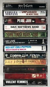12x ALTERNATIVE ROCK Cassette Tape Lot: Nirvana Pearl Jam Dave Matthews Band STP