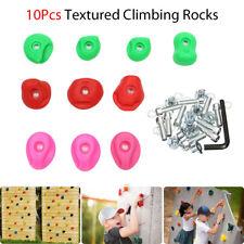 "10Pcs Textured Climbing Rock Holds Wall Stones Kids Assorted Kit 2.6"" + �"