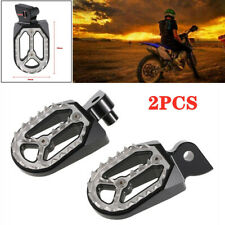 1Pair Motorcycle Pedal Non-slip Backfoot Foot Pegs Stainless Steel Shark Tooth