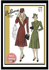 1940's Smart Coat Wartime Sewing Pattern - Reproduction