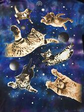 """RaRE"" Space Cat T-Shirt Blue, Purple Tye Dye Size Large"