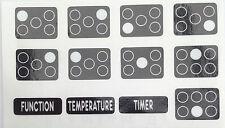 Cuisinière, four Cuisinière Plaque de cuisson gamme symboles autocollants étiquettes de remplacement bouton autocollants