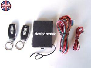 Universal Remote Central Locking Upgrade Kit  Keyless Entry -+2 Remotes Fobs
