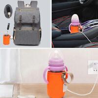 KE_ BL_ Baby Bottle Warmer Heater Portable Travel Kids Milk Water Heating Insu