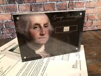 GEORGE WASHINGTON 1797 HANDWRITING SIGNED JSA LOA AUTHENTIC HISTORIC DISPLAY