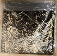 NEW Next Sequin Panel Bedset Pewter Single Size Bed Set RRP £45