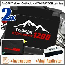 2x Triumph Tiger Explorer 1200 White Red for GIVI Trekker Outback and TOURATECH