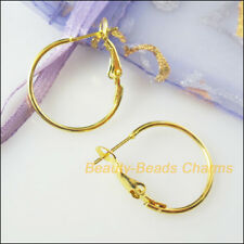 10Pcs Jewelry Lot Circle Basketball Wives Hoops Earrings Gold Plated 20mm