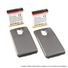 2 x 3800mAh Extended Battery for Samsung Galaxy Nexus i515 Verizon Black Cover