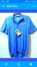 Spotti Men's Short Sleeve Cycling Jersey Bike Biking Shirt Size M Blue Nwt