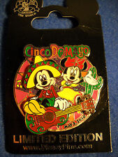 Cinco de Mayo 2010 Disney Mickey & Minnie Mouse Collectible Pin NEW LE