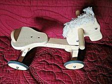 Trotteur/porteur cheval à roulettes en bois massif JASPER TOYS