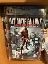ULTIMATE FALLOUT 4 CGC 9.4 White pgs FIRST Print 1st MILES MORALES Spider-Man