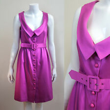 TIBI Pink Buttoned Down Dress with Belt UK Size 10