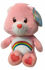 "Care Bears CHEER Pink Teddy Bear Beanie Plush 8"" Stuffed Animal 2002"