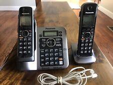 Panasonic Bluetooth Cordless Phones 6.0 Plus 2 Handsets KX-TG7641 Answer Machine