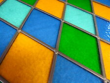Reclaimed TRADITIONAL STAINED GLASS WINDOW PANEL Full Colour NO DAMAGE