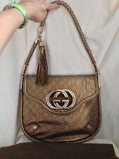 RARE***GUCCI LTD EDITION BLONDIE BRITT TASSEL Guccimisso COPPER GOLD Handbag